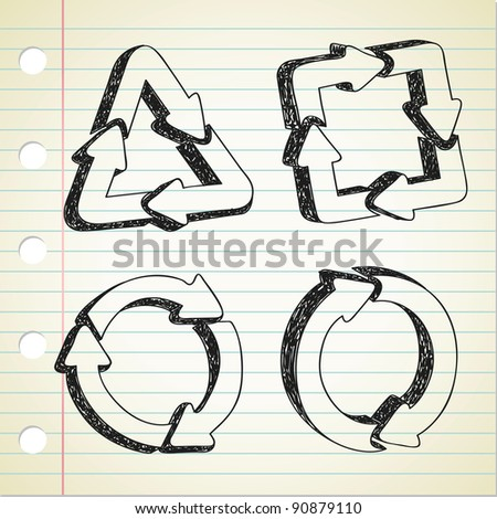 recycle symbol doodle