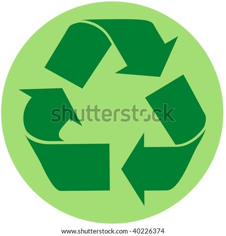 Recycle Symbol Circle Recycle Symbol in Green Circle