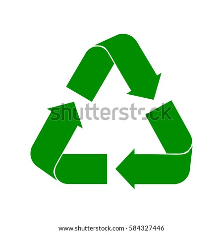Recycle symbol vector green cycle on a white background. Recycle sign. Recycle symbol clip.