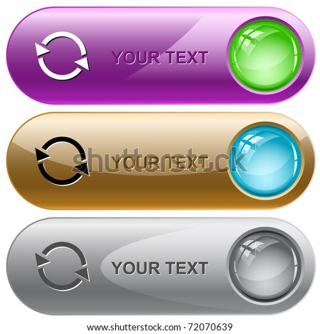 Recycle symbol. Vector internet buttons.