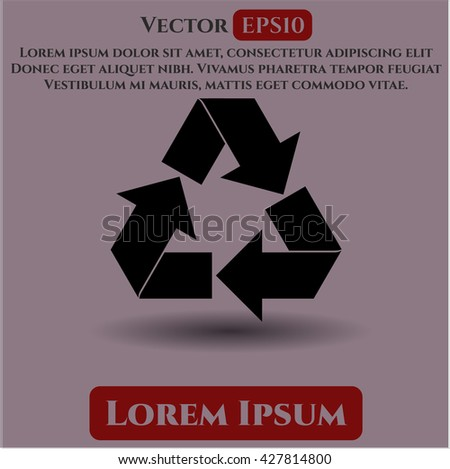 Recycle vector icon