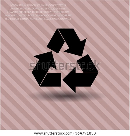 Recycle vector icon or symbol