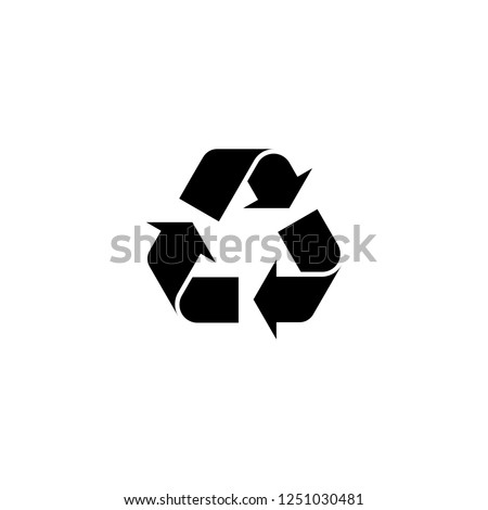 recycle vector icon. recycle sign on white background. recycle icon for web and app
