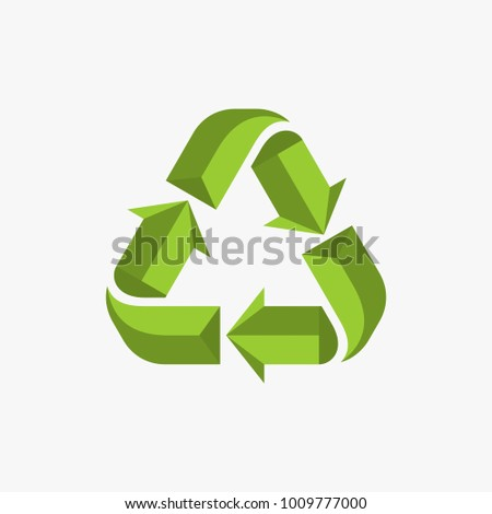 Recycle vector illustration, Green recycle sign vector