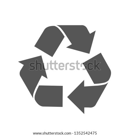 Recycle vector sign.