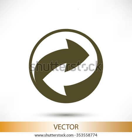 Recycle vector sign icon #353558774