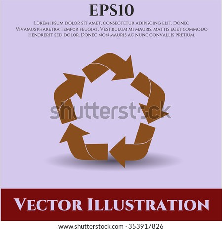 Recycle vector symbol