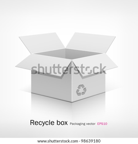 Recycle white box. vector illustration