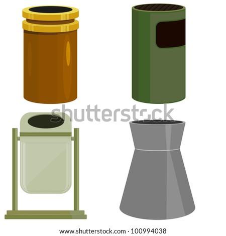 Recycling Bin - stock vector