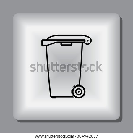 recycling bin sign icon  vector