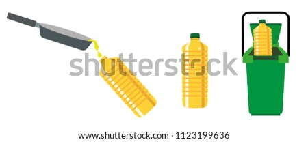 Recycling cooking oil illustration vector