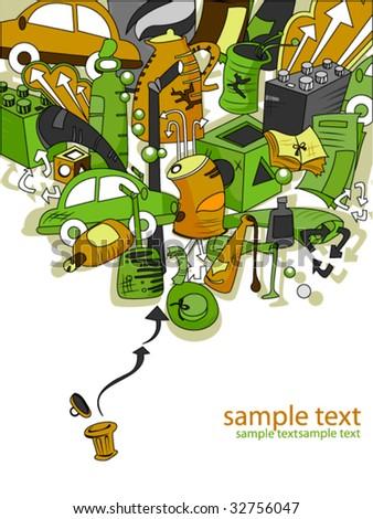 Recycling Design - Vector - stock vector