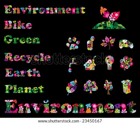 Recycling & environment flower icons â?? Part 12 (vector)
