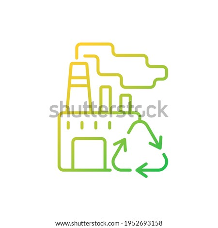 Recycling gradient linear vector icon. Converting waste materials into new objects. Recovery and reprocessing. Thin line color symbols. Modern style pictogram. Vector isolated outline drawing Foto stock ©