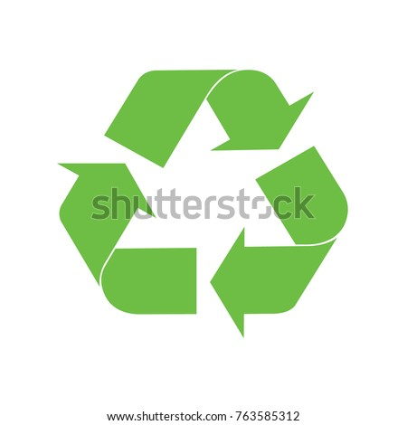 Recycling green icon