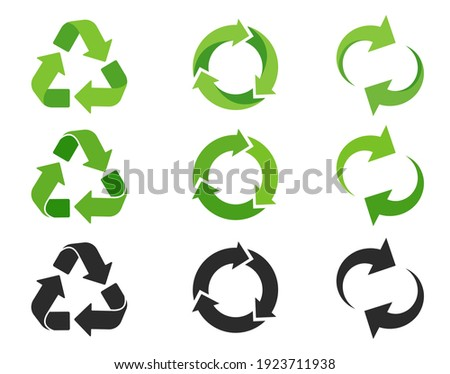 Recycling icon. An arrow that revolves endlessly Reuse concept Recycled. isolate on white background Stockfoto ©