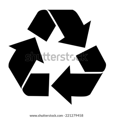 recycling icon isolated on