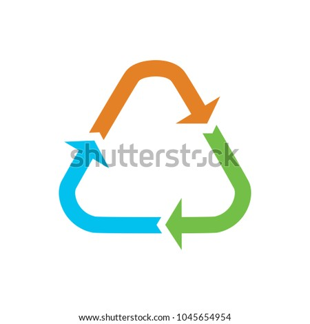 Recycling icon, recycling symbol, recycle shape