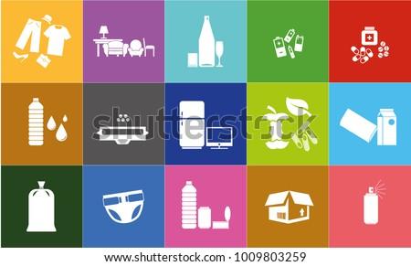 Recycling Icon Set Photo stock ©