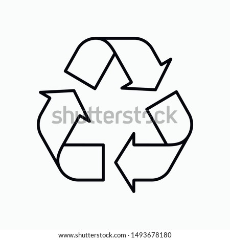 Recycling icon vector technology symbol Stockfoto ©