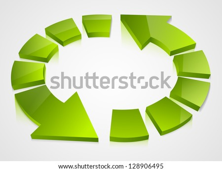 Recycling icons isolated on white