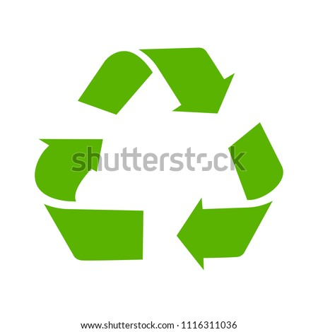 Recycling sign - green environment illustration - nature pollution illustration - protection symbol