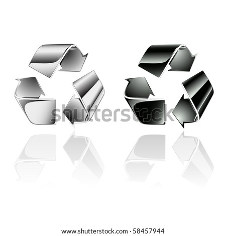 Recycling symbol - Vector