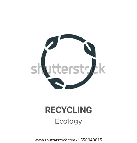 Recycling symbol vector icon on white background. Flat vector recycling symbol icon symbol sign from modern ecology collection for mobile concept and web apps design.