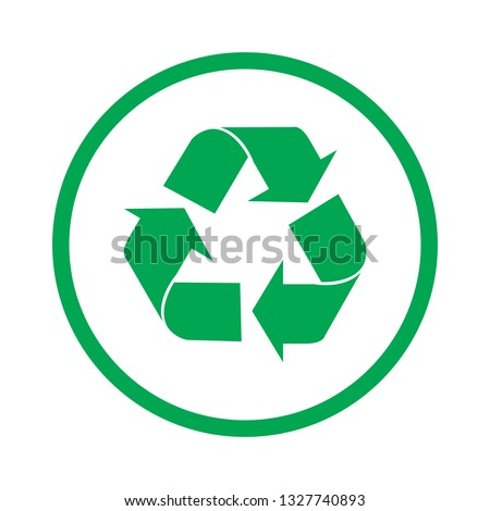 Recycling Symbols Plastic Recycling Symbols  Recycling  icon on white background vector  #1327740893