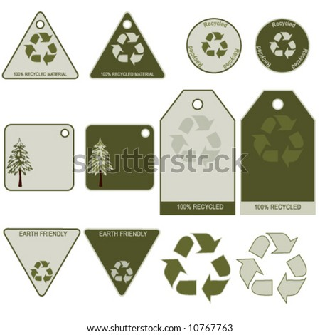 Recycling Tag Set / Global warming. More sets in my Portfolio