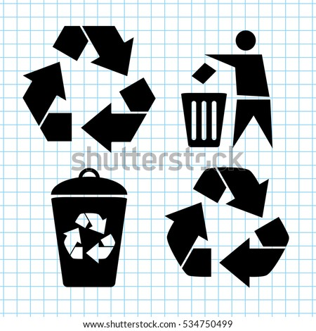 Recycling  - vector icon set