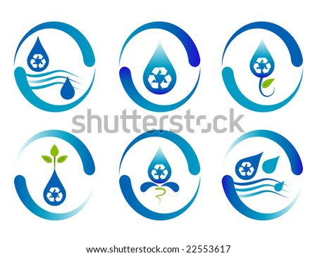 Recycling water logo design.