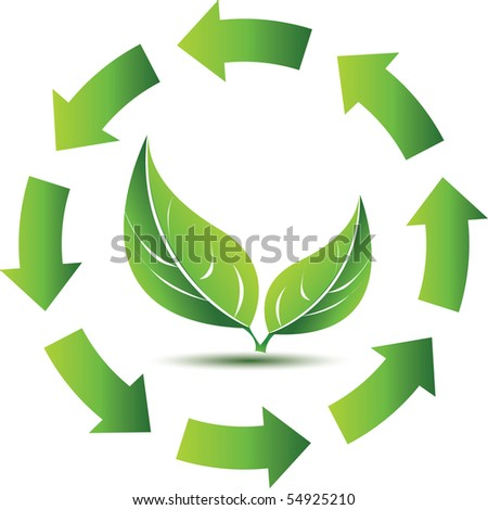 Recycling with leafs