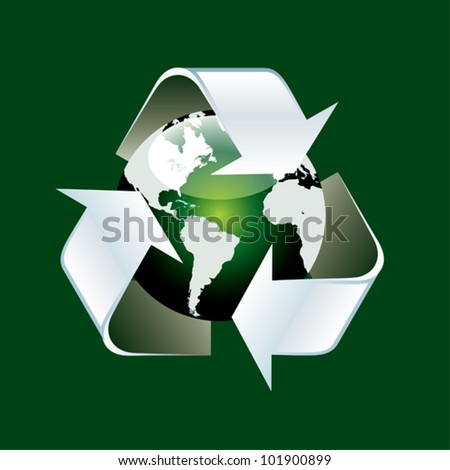 Recycling world - stock vector