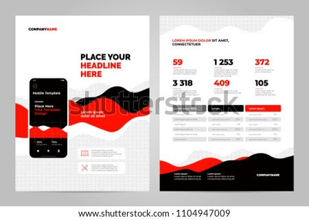 Red Abstract Background for Business Documents, Flyers and Placards. Mobile Technologies, Applications and Online Services Infographic Concept.
