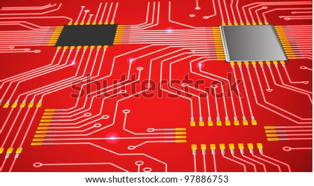 Red abstract chip background