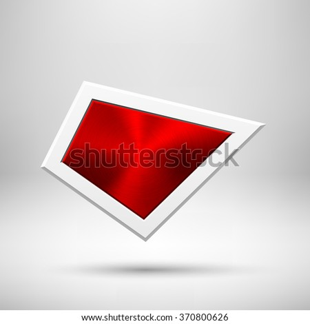 red abstract geometric badge