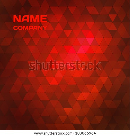red abstract mosaic background