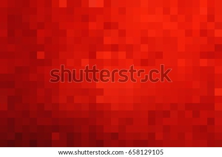 Red abstract square pixel mosaic background. Vector illustration.