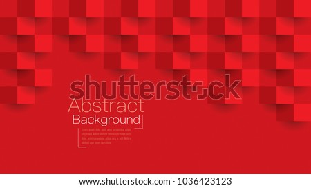 Red abstract texture. Vector background 3d paper art style can be used in cover design, book design, poster,flyer, cd cover, website backgrounds or advertising.