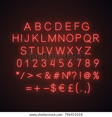 red alphabet  numbers and math