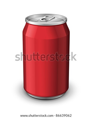 Red Aluminum Can: Vector Version