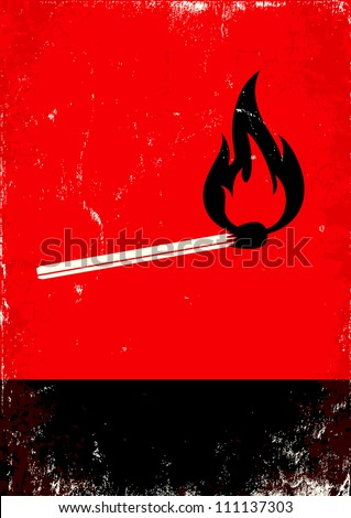Red and Black Lit Match Poster