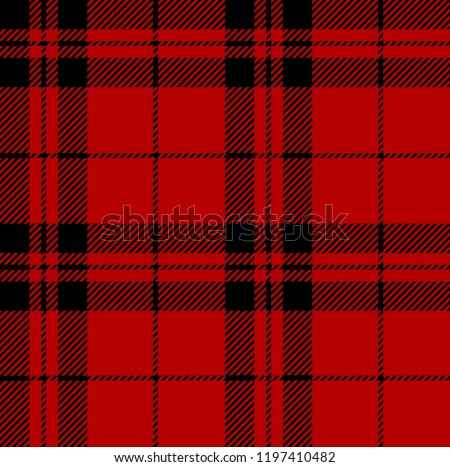 red and black tartan plaid
