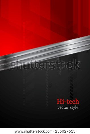 red and black tech background