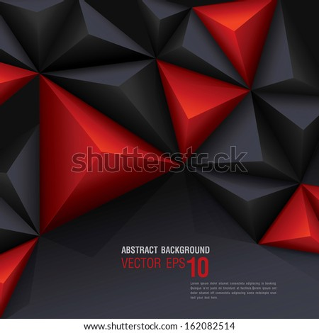 red and black vector geometric background can be used in