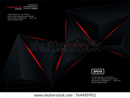 Stock Photo Red and black vector geometric background. Can be used in cover design, book design, website background, CD cover, advertising.