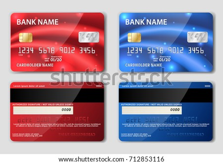 Two sided business card vector design download free vector art red and blue detailed realistic credit cards on grey background vector illustration two sided colourmoves