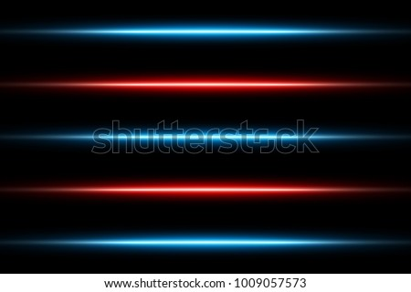 red and blue glowing neon