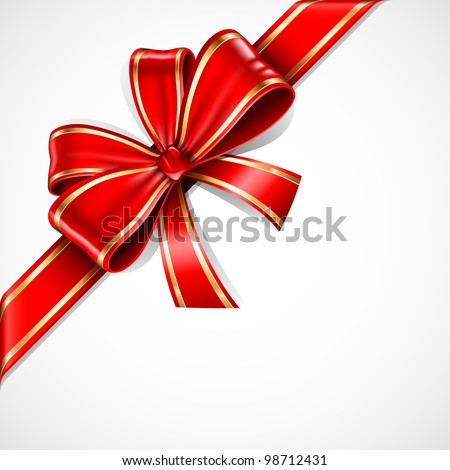 red and gold vector gift bow